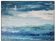 """Abstract Seascape Original Canvas Painting, 30""""x40 ..."""