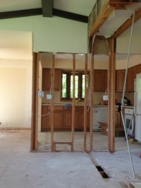 Trying to design load bearing column into new kitchen ...
