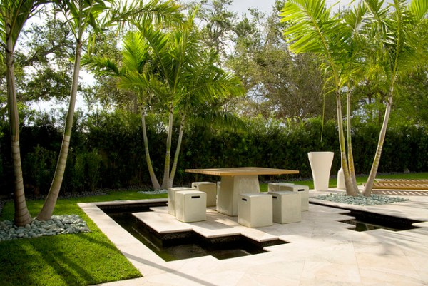 modern backyard - landscape