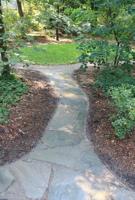 bluestone flagstone walkway - shady