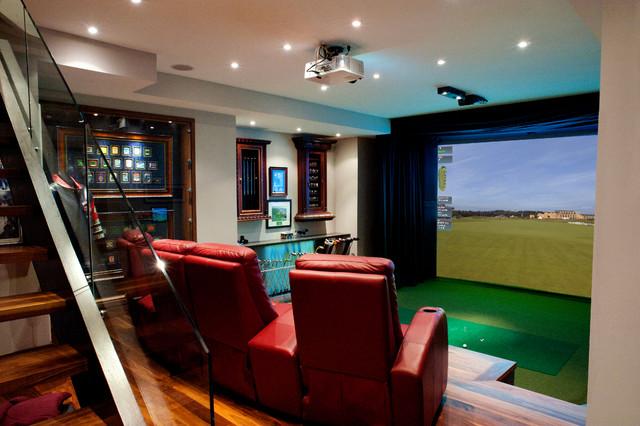 HD Golf Simulators  Traditional  Home Theater  Toronto