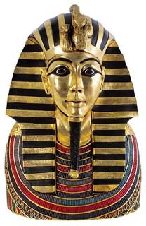 27 Ancient Egyptian Sculpture King Tut Tutankhamen Bust Statue Sculpture  Mediterranean