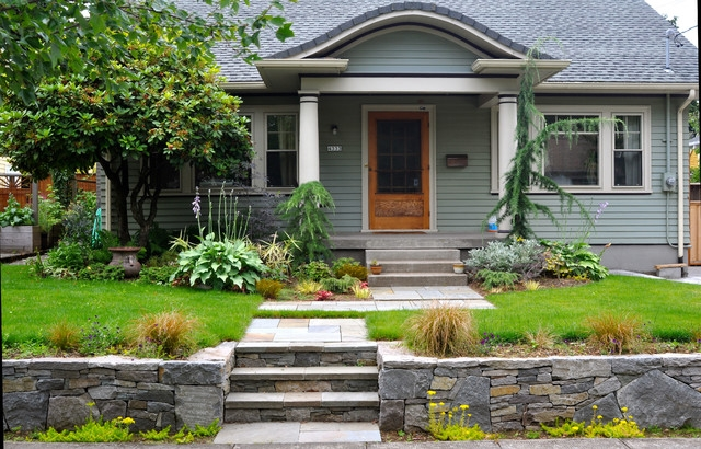 How To Design A Great Garden On A Sloped Lot | Front Yard Stairs Design | Entry | Uphill | Step | Residential | Main Door Stair