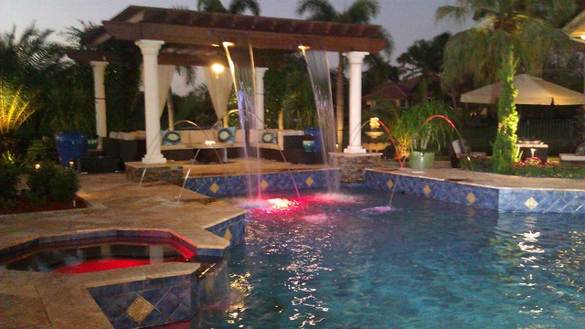 Weston Florida Windmill Ranches  Mediterranean  Swimming Pool  Hot Tub  Miami  by Luxury