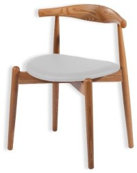 Simple Solid Ash Wood Dining Chair, Natural Wood, Walnut ...