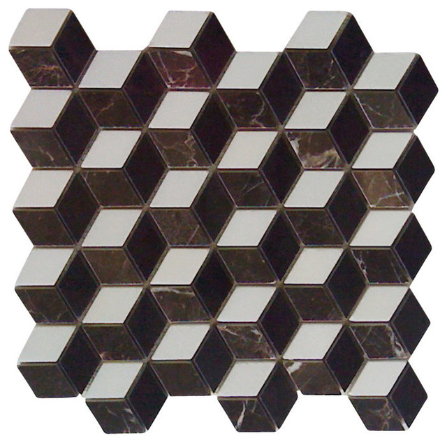 polished illusion 3d interlocking