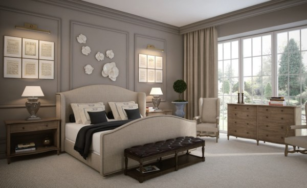 traditional style master bedroom French Romance- Master Bedroom Design