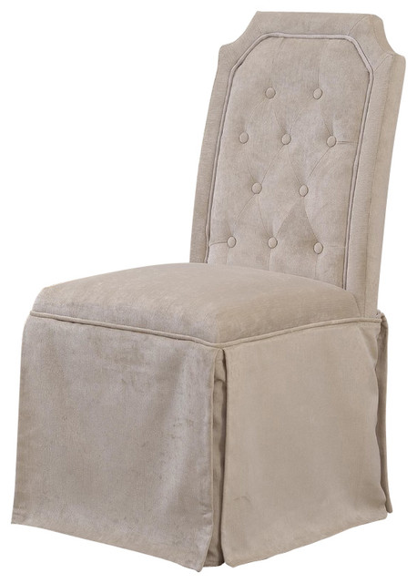 parsons chairs with skirt bubble club chair replica upholstered pleated side set of 2 transitional dining by furniture import export inc