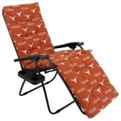 Folding Chair With Cushion Nathaniel Alexander Texas Longhorns Zero Gravity 20x72x2 Contemporary Outdoor Chairs By College Covers