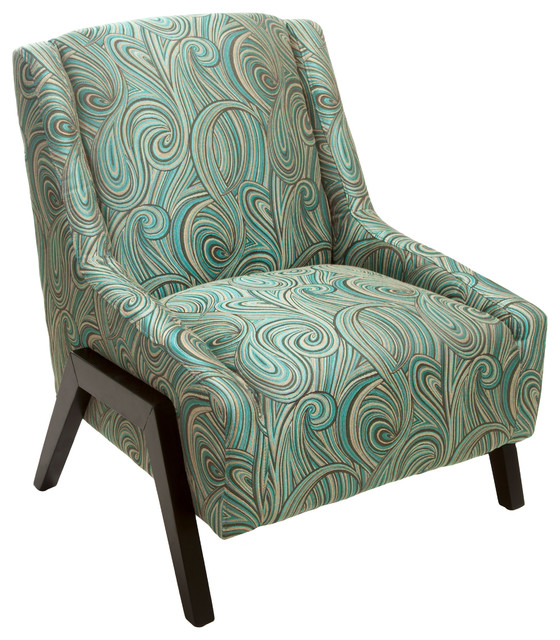 blue green chair personalised christmas covers melantha fabric occasional midcentury armchairs and accent