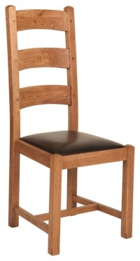 Rustic Manor Oak Ladder-Back Chair - Rustic - Dining ...