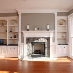 Kitchen Cabinet Trim Installation Bi Fold Doors Custom Fireplace Mantles, Build-ins - Traditional Living ...