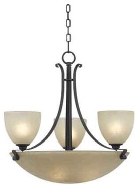 Kenroy Home 91914 Willoughby 6 Light Up Down Lighting Chandelier Traditional Chandeliers