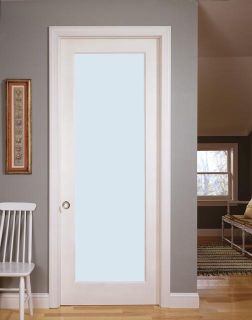 Laminate Decorative Glass Interior Door Living Room