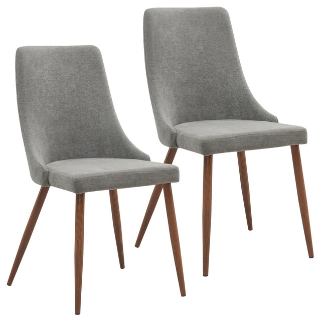 fabric side chairs best camp chair mid century set of 2 beige midcentury grey walnut