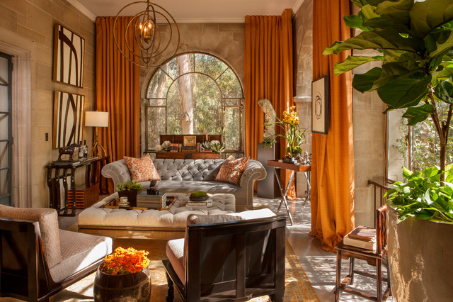 Greystone Mansion Solarium Lounge Traditional Living Room Los Angeles By CASAWASY