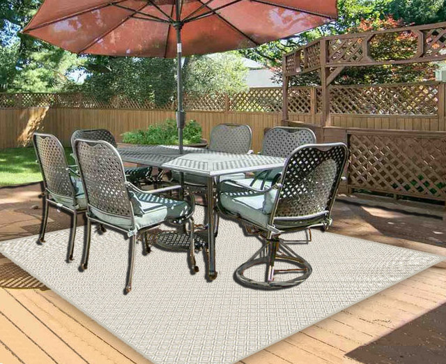 bay head indoor outdoor carpet home patio area rug sand dollar 3 x5