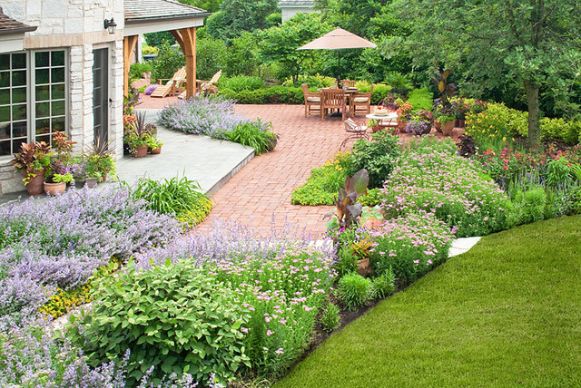 french country garden traditional landscape chicago by k d landscape management