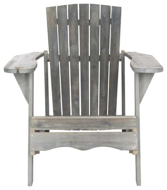 gray adirondack chairs sturdy kitchen safavieh vista outdoor chair transitional by