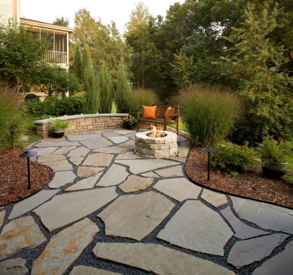flagstone patio and natural stone