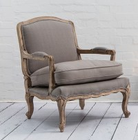 Armchair: French style Lille chair in putty grey - Country ...
