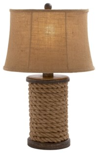 Stylish and Classic Inspired Style Wood Rope Table Lamp