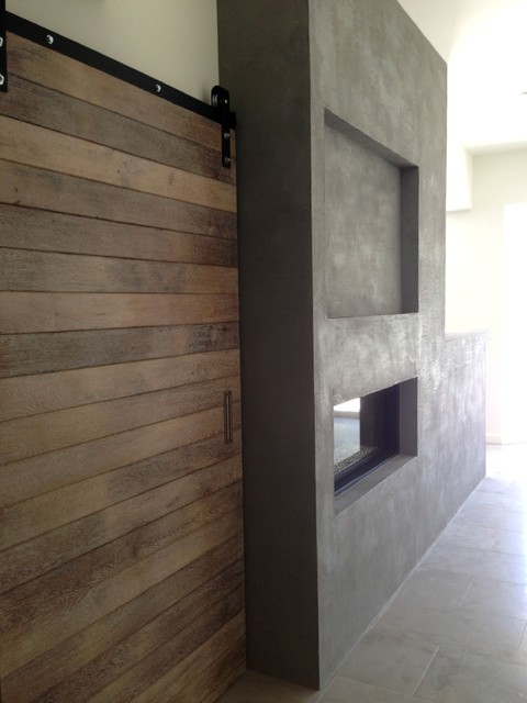 American Clay Fireplace Modern Concrete Finish