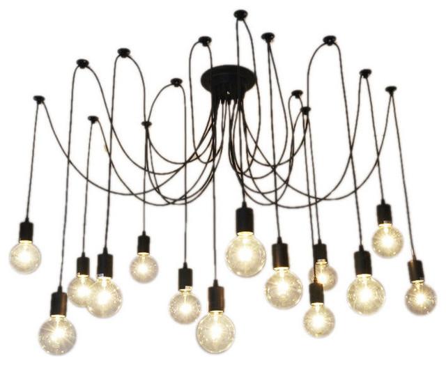 14 Light Pendant Swag Chandelier Black Chandeliers