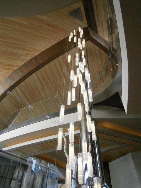 Modern Lighting For Foyer Entry Stairway Lights High Ceiling