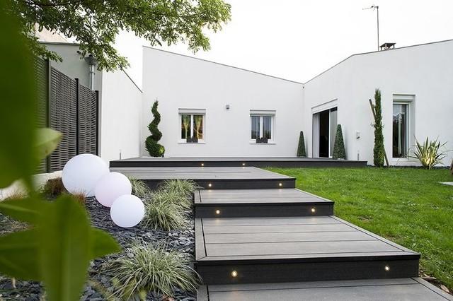 Terrasse En Bois Composite Design Modern Deck