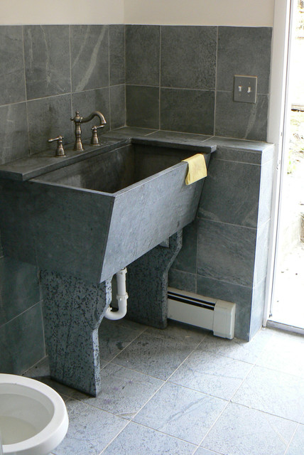 farmhouse kitchen sink for sale delta faucet replacement parts soapstone laundry room - traditional ...
