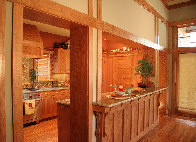 Bungalow Breakfast Bar and Kitchen  Traditional  Kitchen