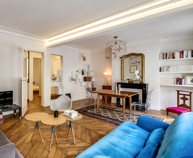 Jardin du Luxembourg  Paris 6e  Appartement priv de 50m2  Contemporain  Salle de Sjour
