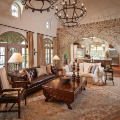 Mixing Leather And Fabric Furniture In Living Room How To Design A Small Layout Bordley - Mediterranean Houston By ...
