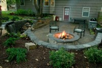 Outdoor Patio with firepit - Traditional - Patio - Kansas ...