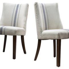 Striped Dining Chair Lina Leather Folding Rydel Fabric Chairs Set Of 2 Beach Style By Gdfstudio