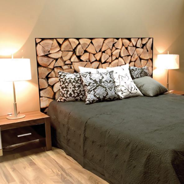 Dcoration de la chambre imitation bches  Montagne  Chambre  Lille  par wallsweethomefr