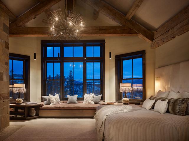 RusticContemporary Master  Contemporary  Bedroom  Denver  by Highline Partners Ltd