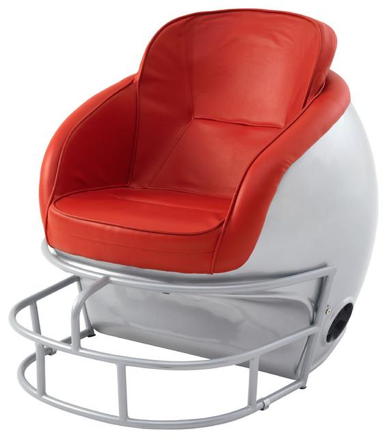 NCAA Ohio State University Football Helmet Leather Lounge