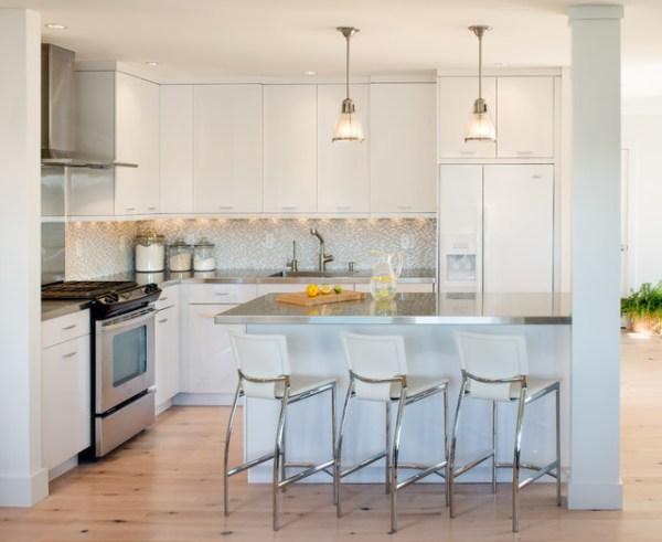 coastal style kitchen Stageneck Modern - Beach Style - Kitchen - Portland Maine - by Marcye Philbrook