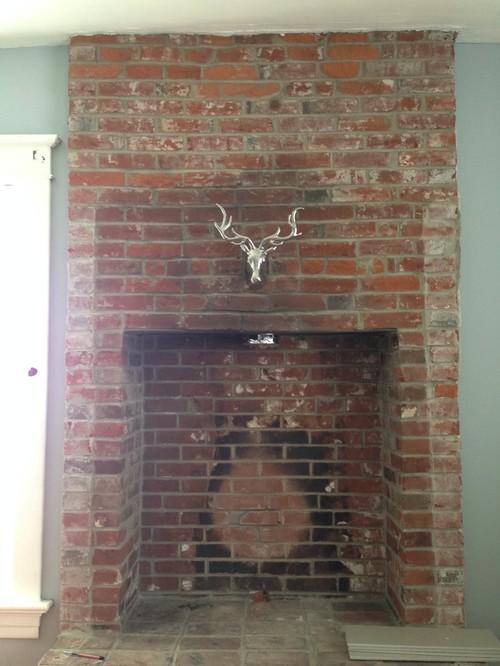 Brick Fireplace Conversion