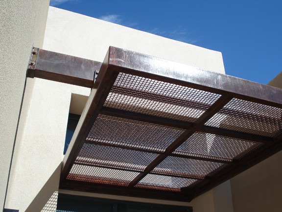 Steel Awning  Modern  Patio  Albuquerque  by Modulus Design