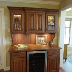 Kitchen Apron For Kids Moen Brantford Faucet Wine Bar Hutch With Refrigerator - Traditional ...