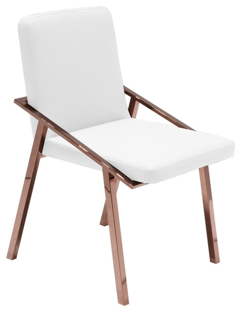 modern chair design dining bernhardt leather nika contemporary side rose gold faux white chairs by mod space furniture
