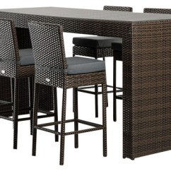 Outdoor Bar Table And Chairs Wheelchair Hoist Renava Genua Set Modern Pub Bistro Sets By La Furniture Store