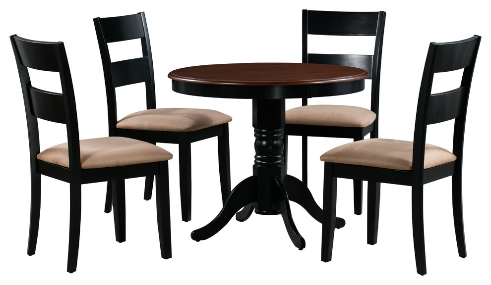 Brookline 5 Piece Small Kitchen Table Set Black Cherry Traditional Dining Sets By Dining Furniture