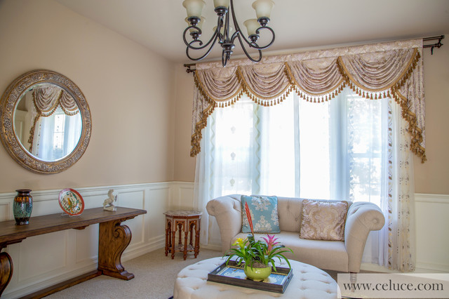 Valance Curtains With Swags And Tails By
