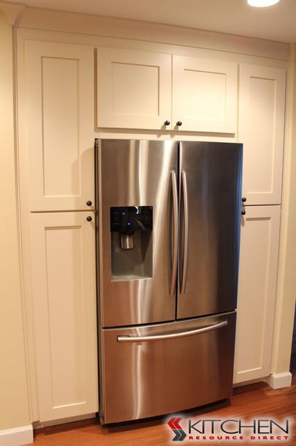 Large Pantry Area around Refrigerator  Transitional