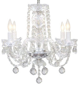 Murano Venetian Style All Crystal Chandelier Traditional Chandeliers