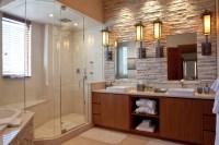 Mountain Contemporary Cabin - Contemporary - Bathroom ...